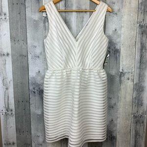 Bar III NWT Illusion-Stripe Fit & Flare Dress